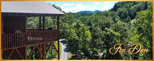 Fox Den Cabin Rental in Murphy NC
